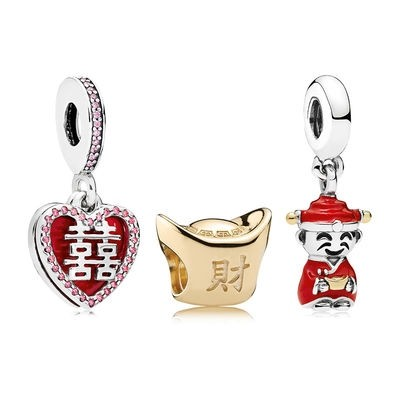 Pandora Saldi Happiness Fortune And Luck Charm Pack Promozioni